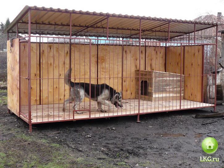 Фото вольеров для собак своими руками
